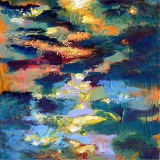 Sunset 6, 40 x 40 cm, oil on canvas