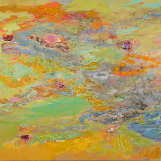 Monsun, 2007, 150 x 170 cm, oil and sand on canvas