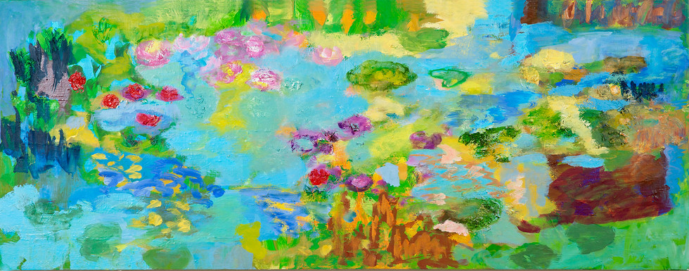 Teich I, 2013, 55 x 140 cm, oil on canvas