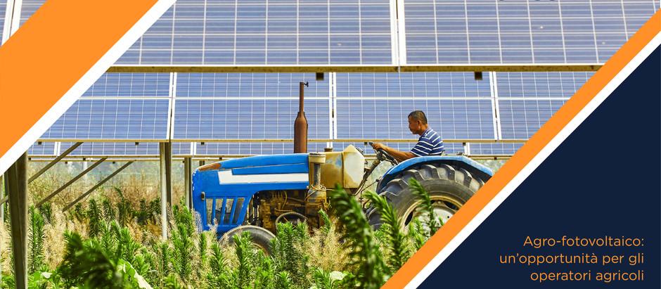 Agro-fotovoltaico: un'opportunità per gli operatori agricoli