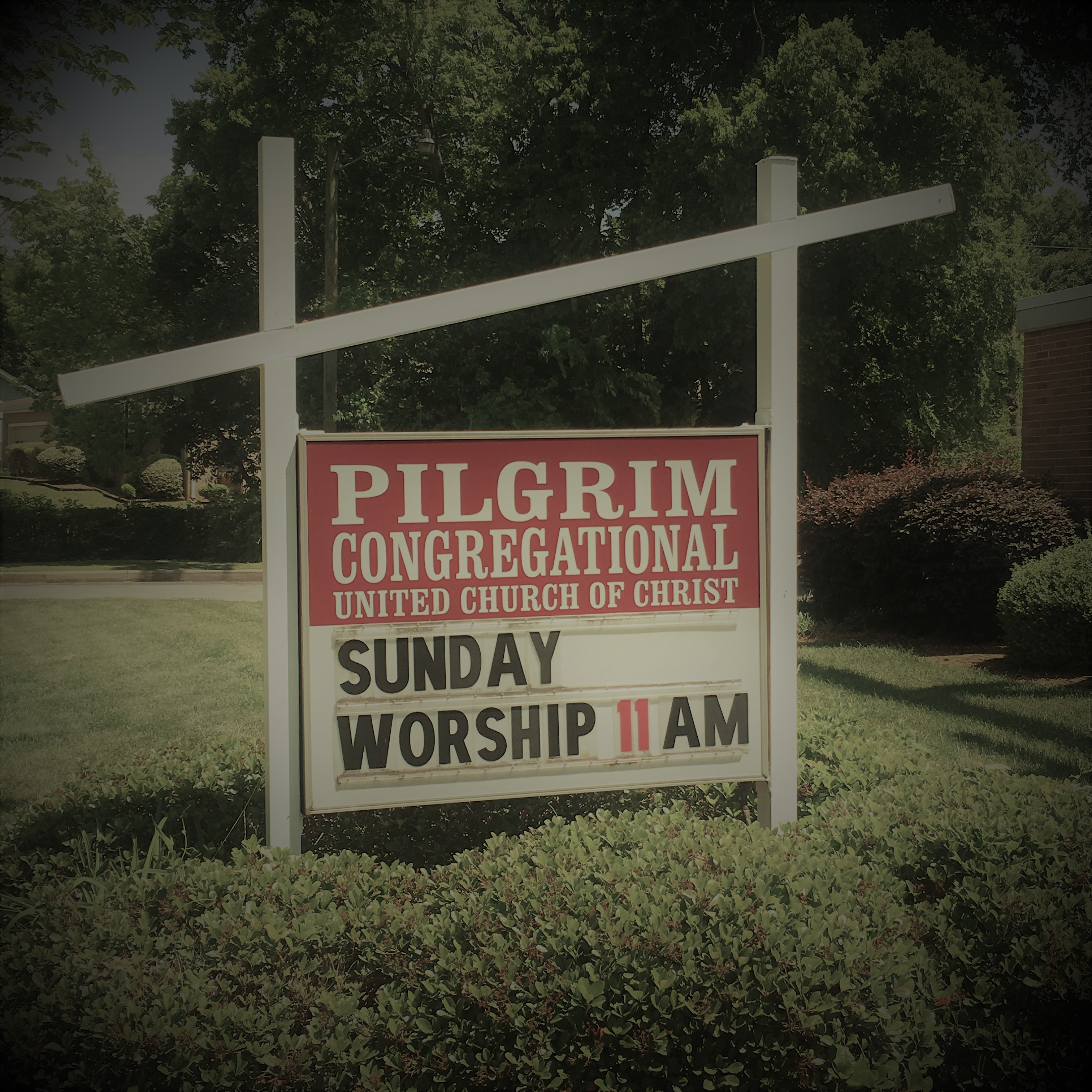 Pilgrim Welcome Sign