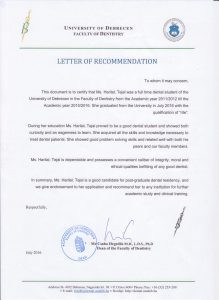 letter-of-recomendation