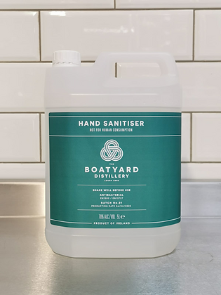 Liquid Hand Sanitiser By 'Boatyard Distillery' - 5 Litre Refill - Buying Group