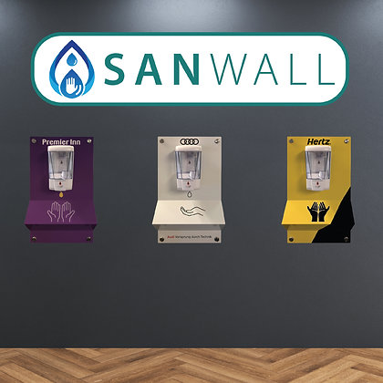 SANWall Hand Sanitiser Wall Mounted Station