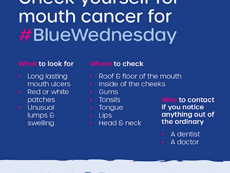 Blue Wednesday and Mouth Cancer Awareness