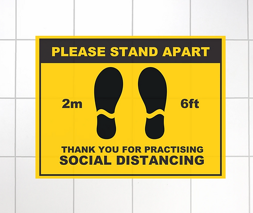 Stand Apart Non-Slip Mat - 400X300MM - Pack of 5