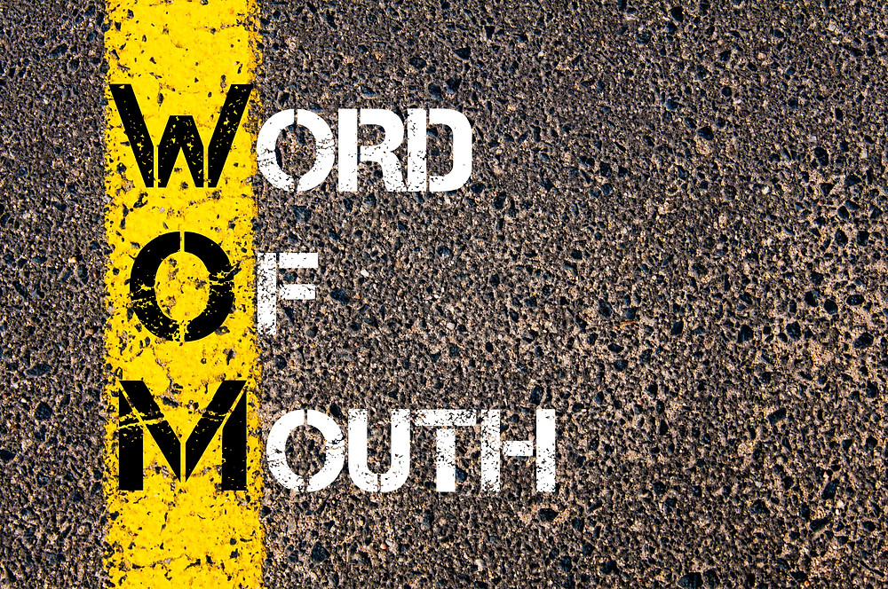 Acronym WOM as Word Of Mouth