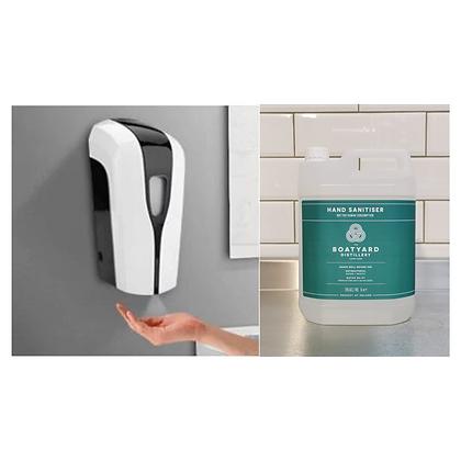 Automatic Hand Sanitiser Dispenser/x2 Boatyard 5l Hand Sanitiser Bundle