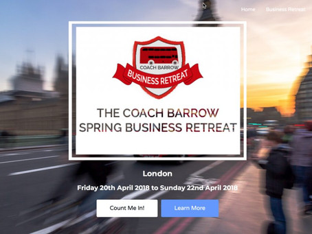 The Spring Business Retreat – Friday 20th to Sunday 22nd April 2018 – London