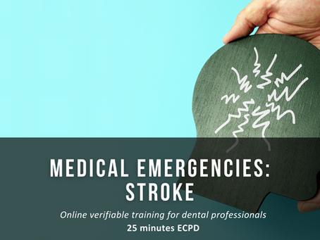 New course - Medical Emergencies: Stroke