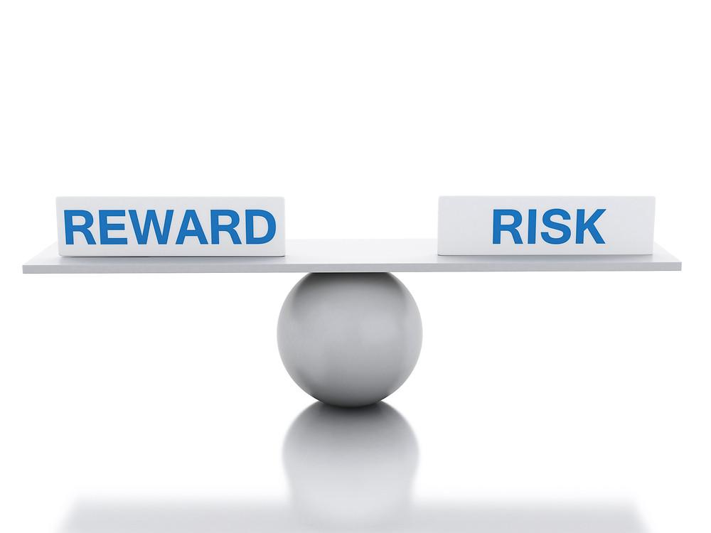 3D Seesaw balance between reward and risk