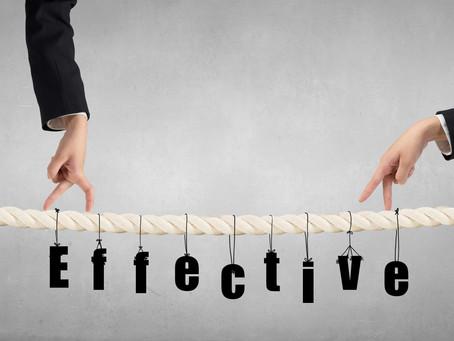 Effective versus Efficient
