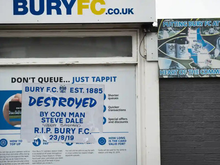 Bury Football Club – R.I.P.