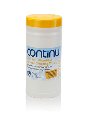 Continu 2 in 1 Wipes Tubs - Box of 6