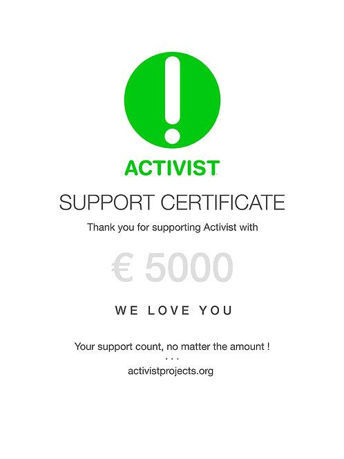 € 5000 donation