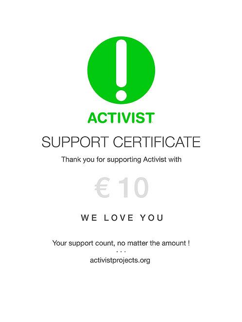 € 10 donation