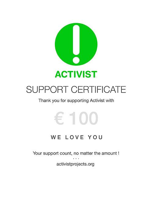 € 100 donation