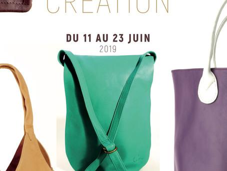 Louise Dor et ses créations en cuir, à la CasaBlù du 11 au 23 juin 2019