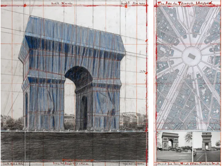 Christo va emballer l'Arc de Triomphe,    du 6 au 19 avril 2020