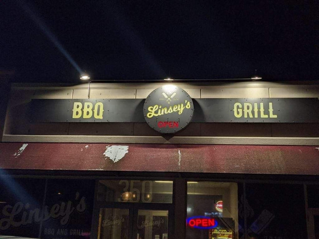 Local BBQ restaurant Sign