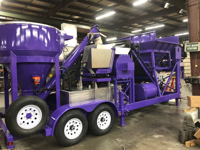Automated/Portable Gypsum Mixer Trailer