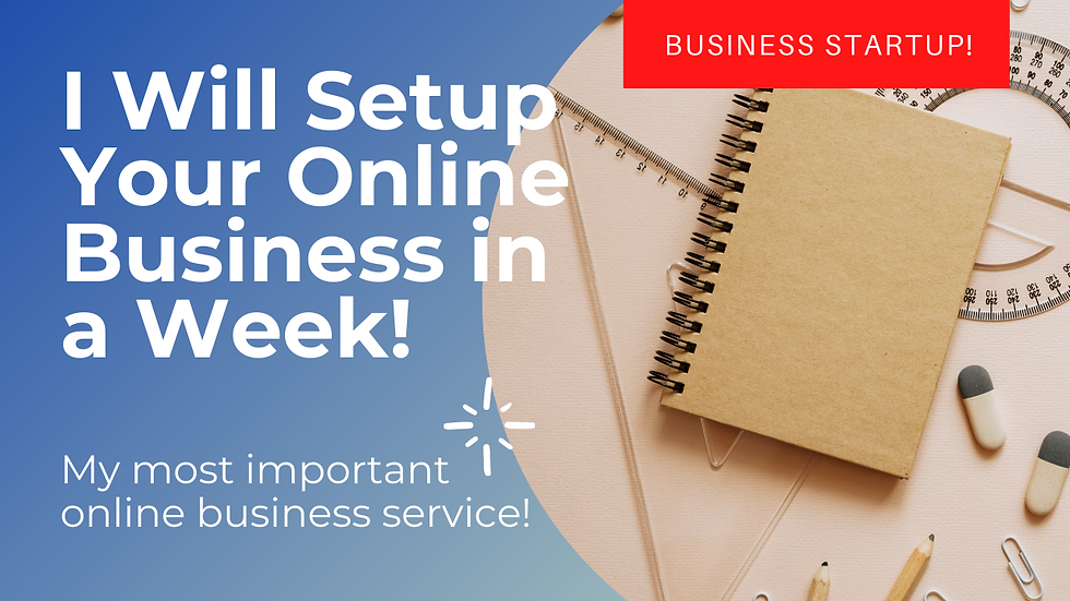 I Will Setup Your Online Business in a Week!