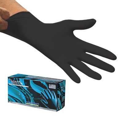 Adenna Phantom Black PF Latex Gloves