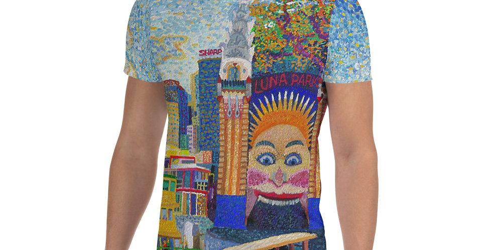 Luna Park Sydney All-Over Print Men's Sports T-shirt