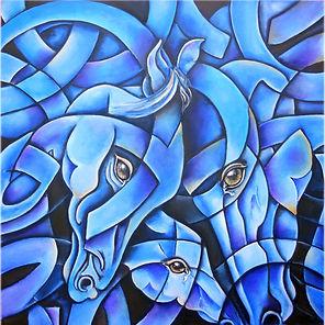 Arte en caballos, cuadros modernos, arte mexicano, pintora mexicana, decoración de paredes