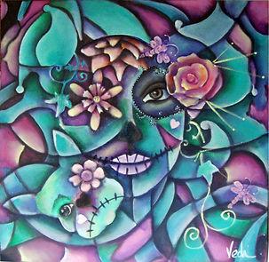 Catrinas, día de muertos,abstracto figurativo