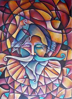 El quijote, arte quijote, cuadros modernos, abstracto figurativo, arte en la pared