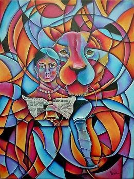 Leona Vicario,las dos leonas,forjadora de la patria, cuadros modernos,independencia de mexico, libertad, fiera, paintings, mexican art, mujeres valientes, campana independencia, mexican colors,