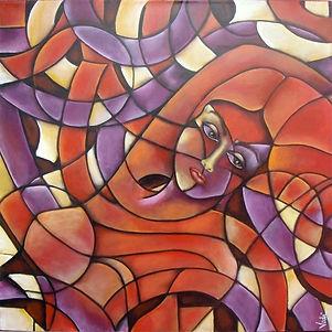 abstracto figurativo, cuadros modernos, arte decorativo, interiores, decoración de paredes