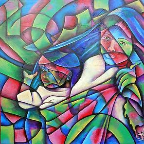 Arte mexicano, colores mexicanos, pintora mexicana, cuadros modernos, decoración de paredes, rebozo, pinturas