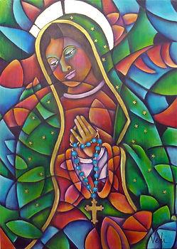 cuadro moderno de la virgen de guadalupe, arte religioso, virgen de guadalupe, arte mexicano
