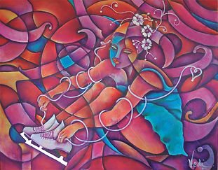 cuadros modernos, patinaje artistico sobre hielo, patines, abstracto figurativo, decoración de paredes, arte mexicano