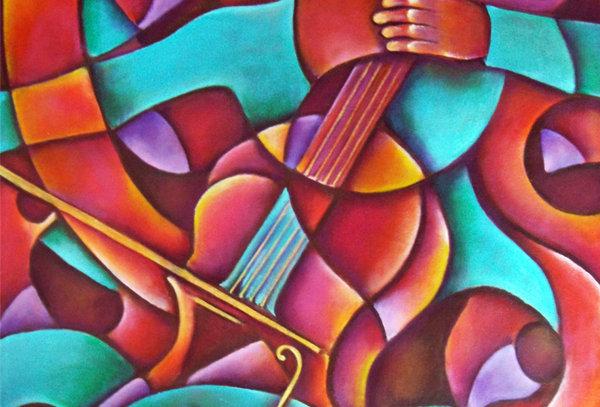 Tocando el chelo/Playing the cello