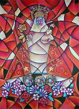 Virgen de Covadonga, arte en la pared, cuadros modernos