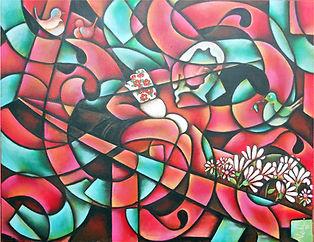 pinturas de xochimilco, arte mexicano, pintora mexicana, chinampa, decoración de paredes