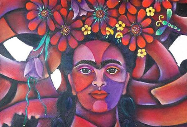 Frida con trenzas/Frida with braids