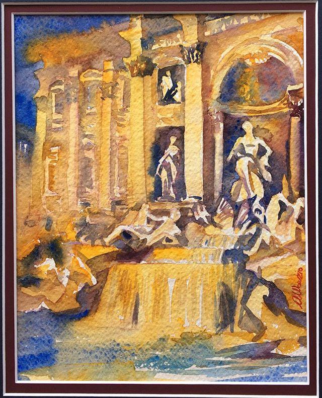 """Roma Fontana di Trevi-10""""x8"""""""