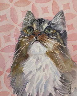 """Orie-watercolor on paper-7""""x5"""""""