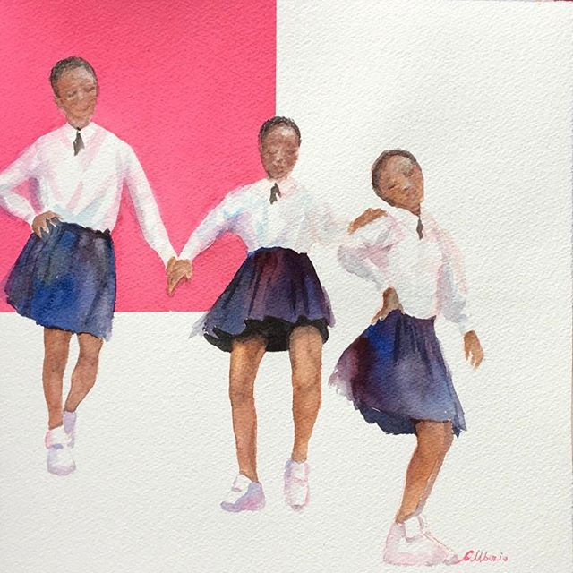 Me, myself and I - Watercolor  -12x12
