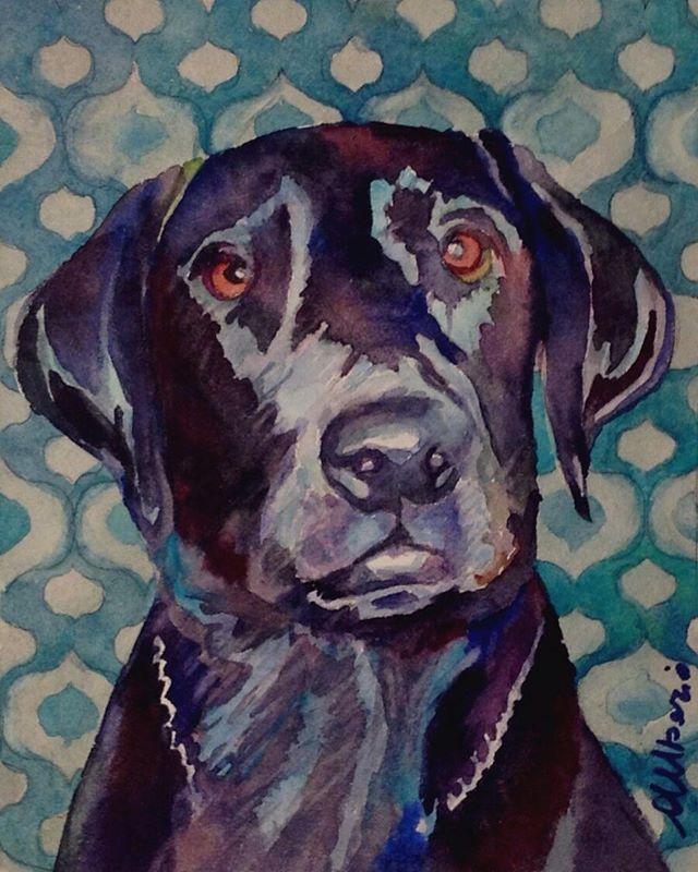 """Boris - watercolor -7""""x5"""""""