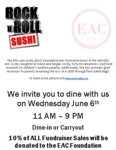 Rock n Roll Sushi Fundraiser