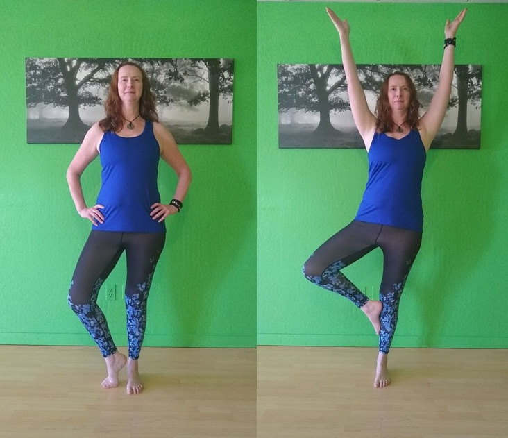 Tree pose options with good alignment