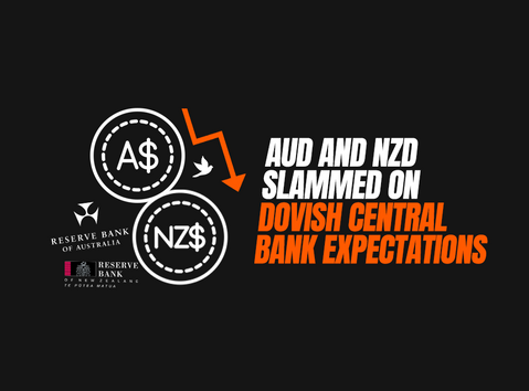 AUD and NZD Slammed on Dovish Central Bank Expectations