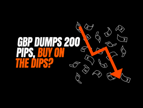 GBP dumps 200 pips, buy on the dips?