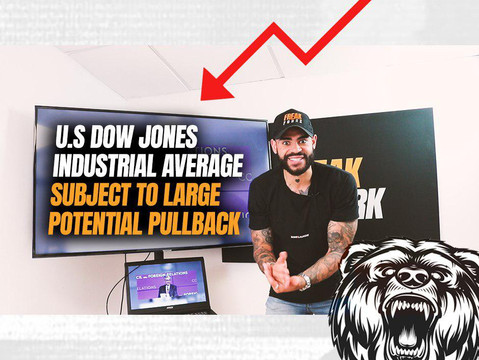 U.S Dow Jones Industrial Average Subject to a Large Potential Pullback