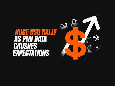 Huge USD rally as PMI data crushes expectations
